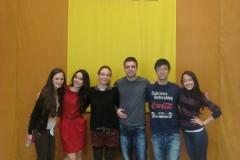 """AIESEC edukacinio projekto \""""Beyond Limits\"""" studentai susitiko su 1-5 klasių mokiniais"""