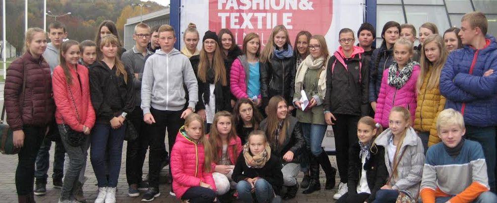 """Išvyka į ,, Vilnius Fashion- Textile Avenue"""" Lietuvos parodų ir kongresų centre LITEXPO"""