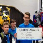 Komandos DreamBusters pasirodymas Robotiadoje
